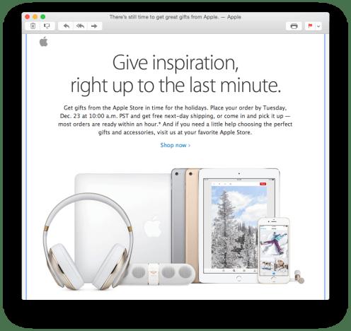 OS X Mail Yosemite