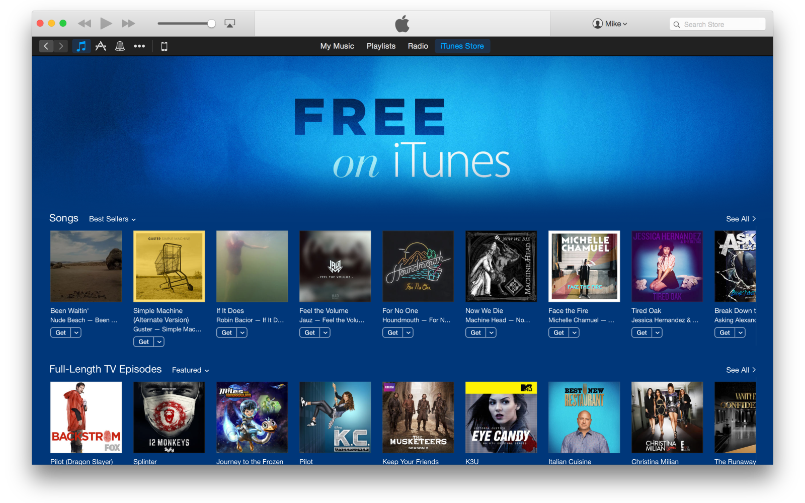 Apple adds new 'Free on iTunes' section featuring singles and TV shows to iTunes Store