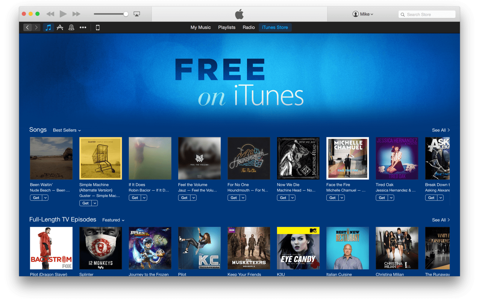 Apple adds new 'Free on iTunes' section featuring singles