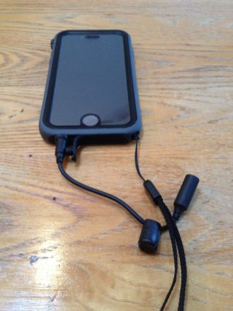 Catalyst with LifeProof Headphone adapter