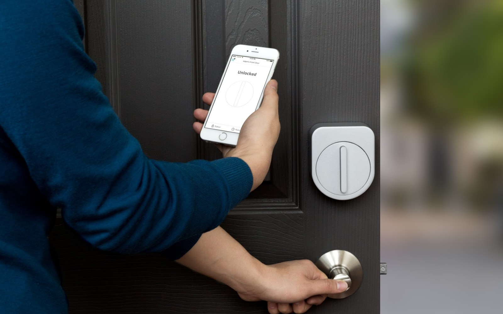 Sesame is a $99 smart lock that lets you unlock your current deadbolt from your iPhone