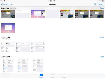 Photos on iPad