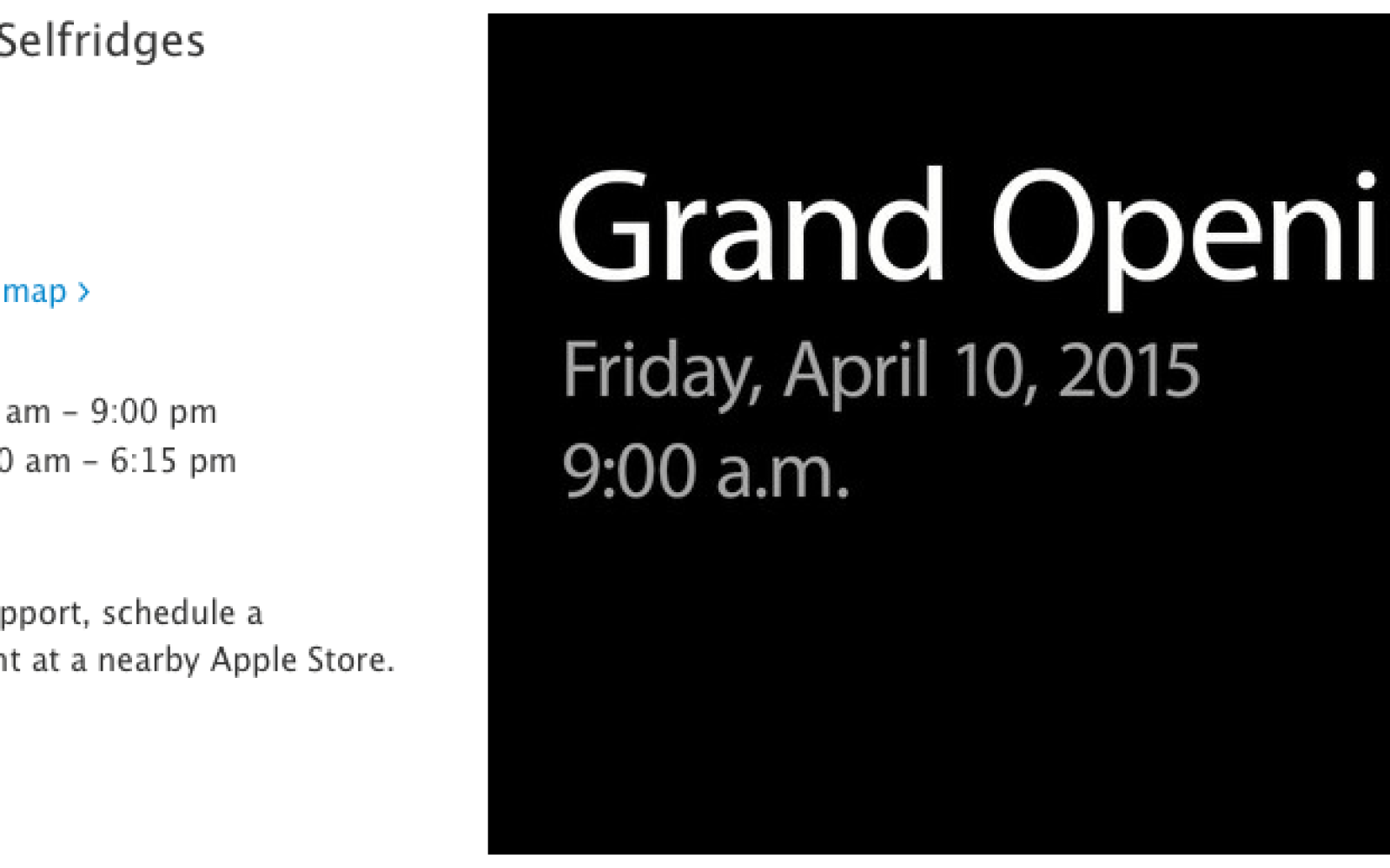 Apple announces grand opening for Apple Watch shops in department stores in London, Paris and Tokyo (Gallery)