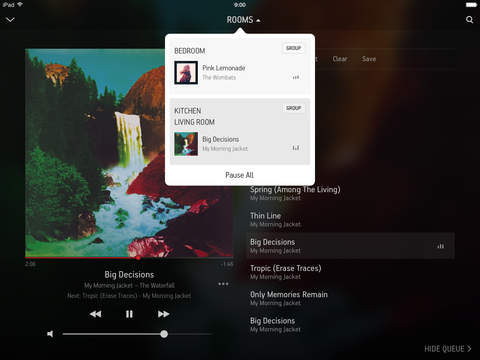 Sonos Controller app updated w/ quick Rooms access, new iPad UI