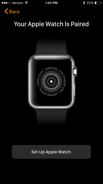 Apple Watch App is paired