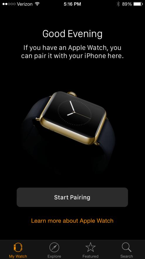 Apple Watch App Pairing