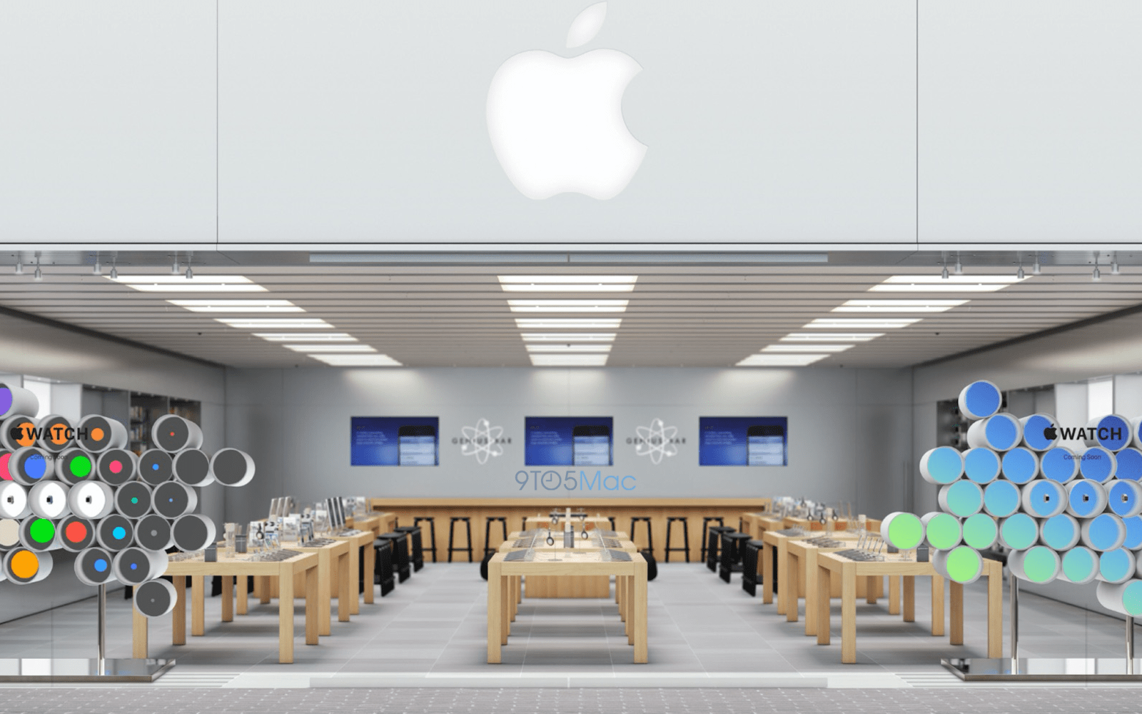New Apple Store front display for Apple Watch, new gold model details revealed