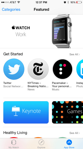 Apple Watch App Store 3