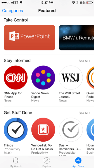 Apple Watch App Store 4