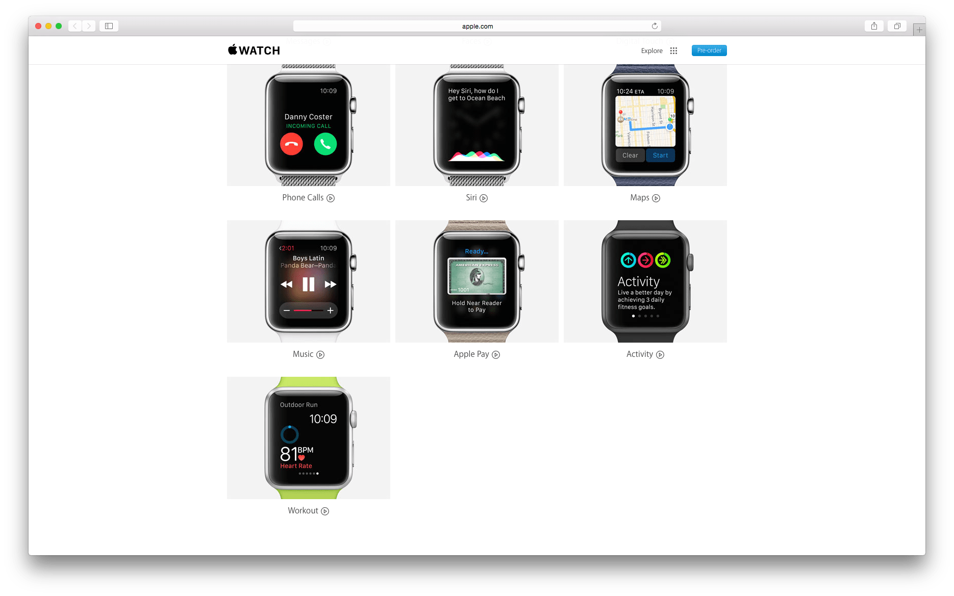 Apple posts Apple Watch guided tour videos for Apple Pay