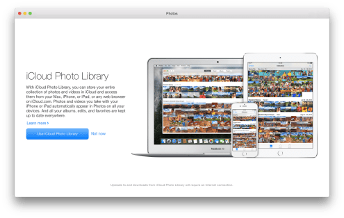 Set up iCloud Photo Library