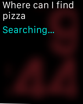 Using Siri on Apple Watch to get pizza