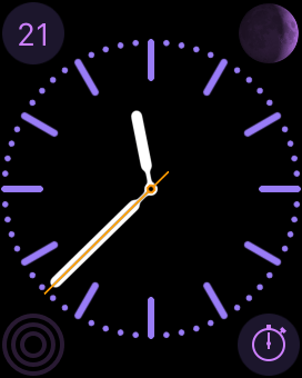 Apple Watch watch face with Stopwatch complication