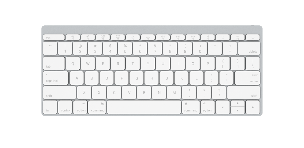 Keyboard Front White