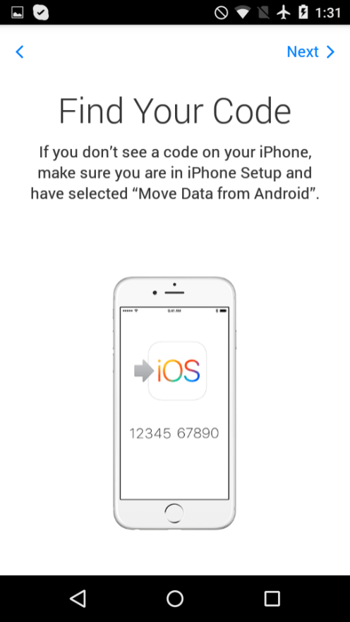 Move to iOS 3