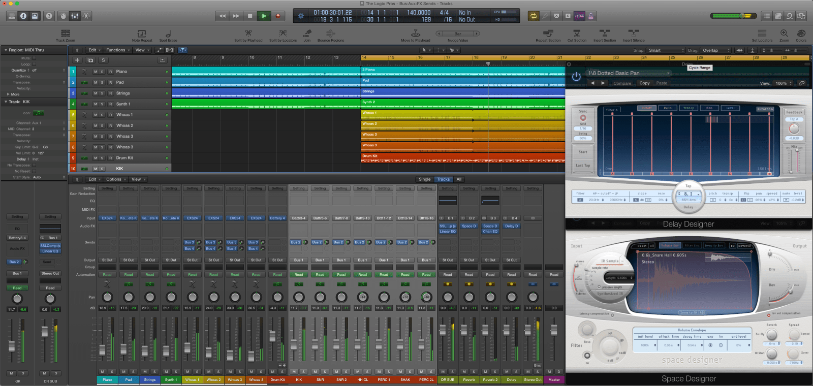 The Logic Pros: Routing 101 – creating multi-track FX Sends and Submix groups