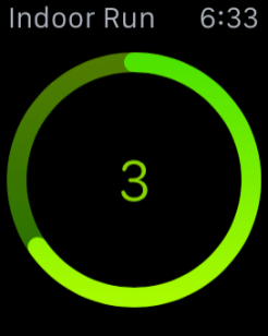 Apple Watch Exercise countdown
