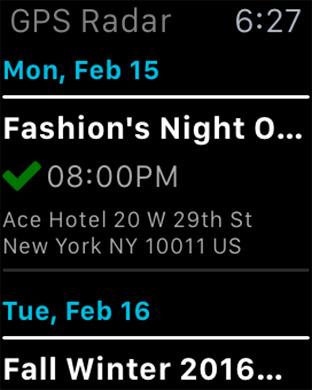 Fashion GPS Radar Screenshot 1