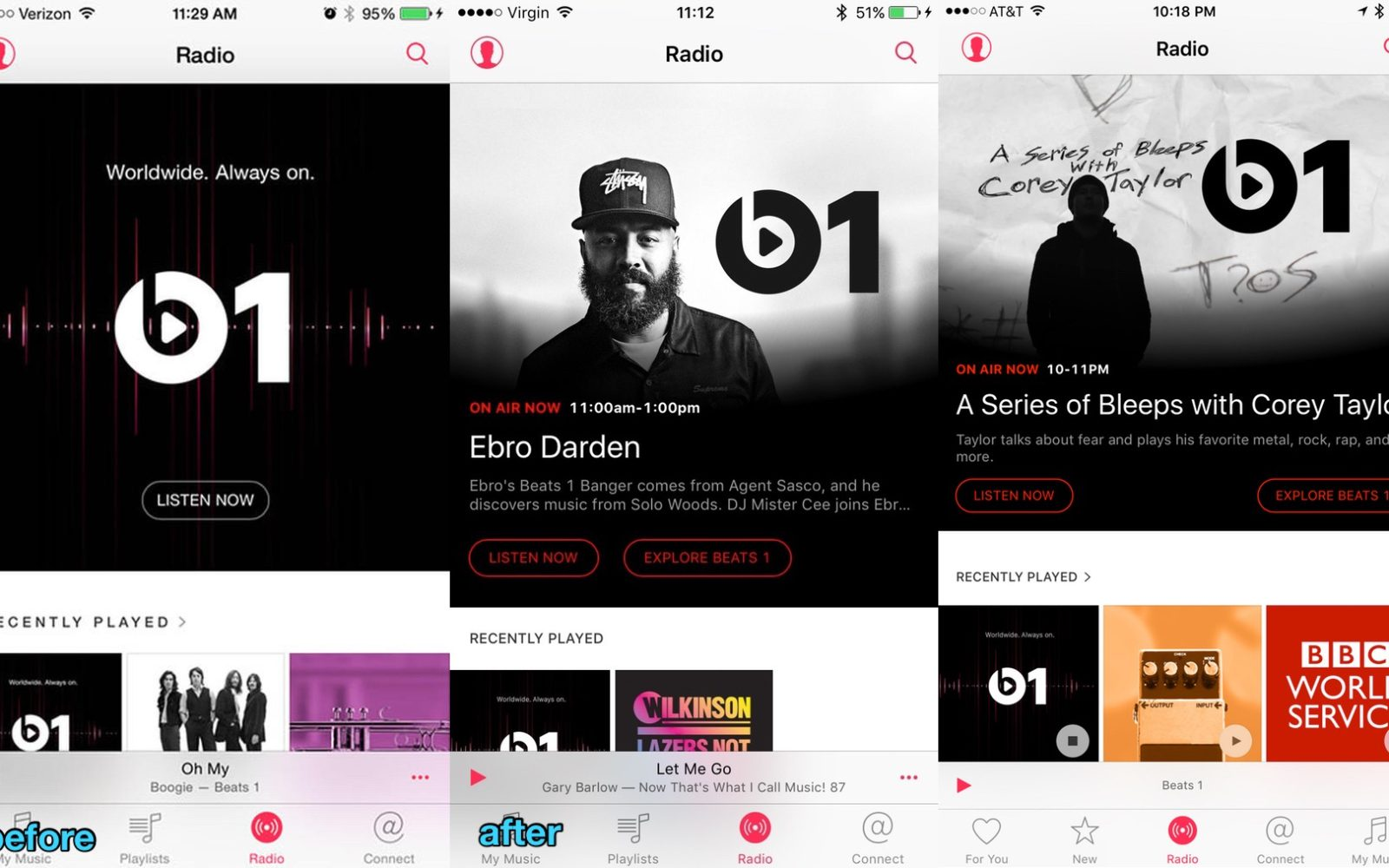 Apple updates Radio tab with live Beats 1 show details and artwork