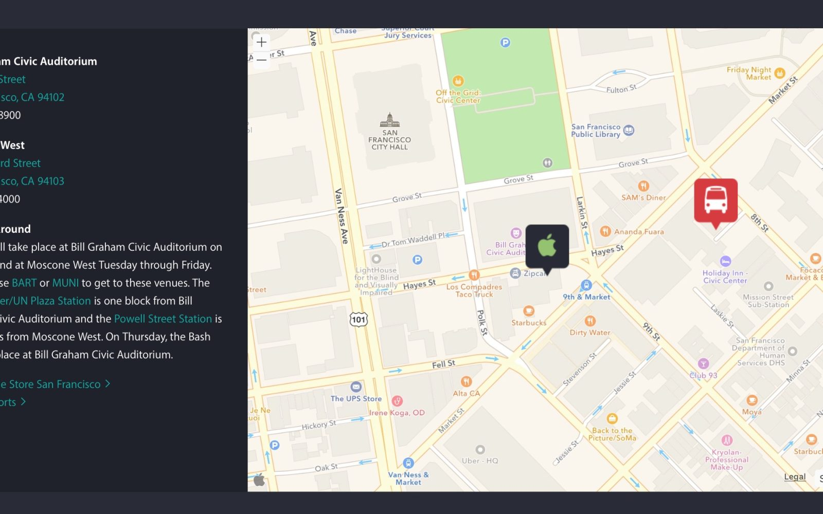 Embedded Apple Map on WWDC site suggests official public MapKit web API coming soon