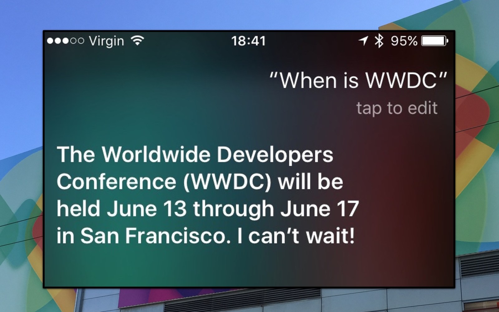 Siri announces WWDC 2016 will be held June 13th through June 17th in San Francisco [Update]