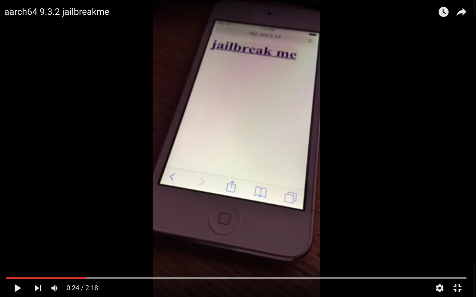 iOS hacker shows off iOS 9.3.2 JailbreakMe-inspired jailbreak, but a release is unlikely