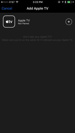 Pairing Apple TV to new Apple TV Remote app