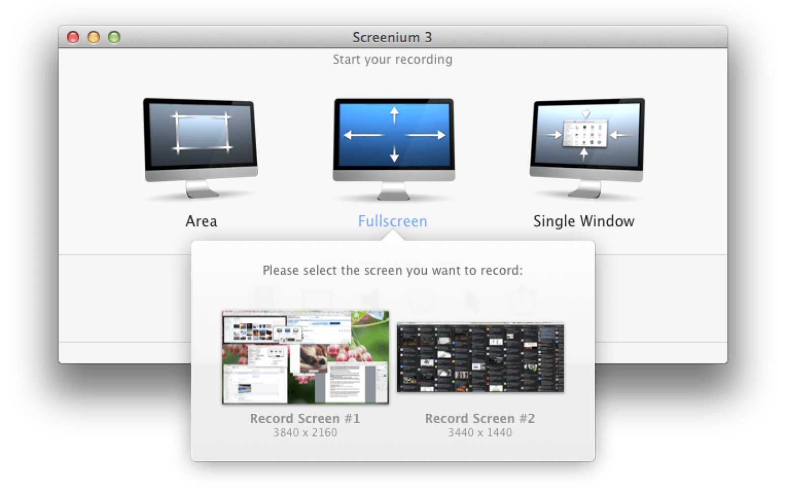 how to open new screen on mac