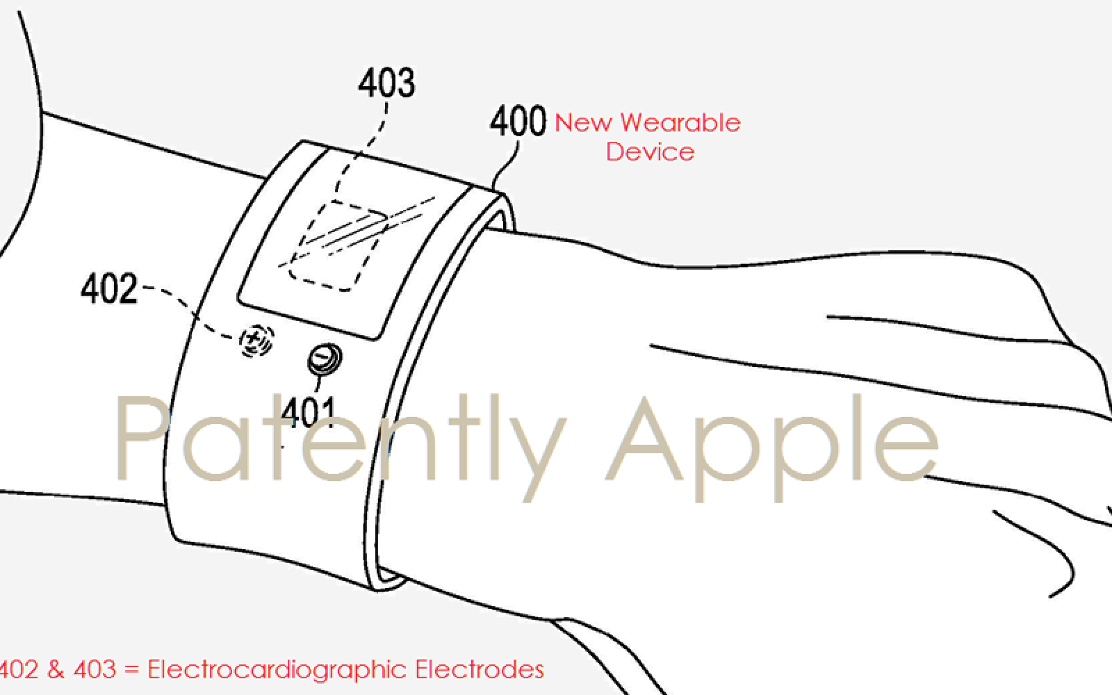 Apple applies for patent on wearable ECG device as watch, ring, brooch or similar