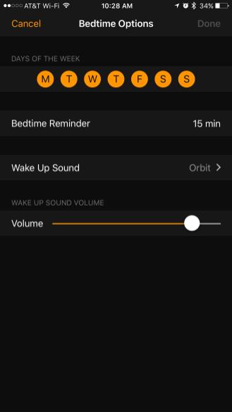 Clock Sleep iOS 10