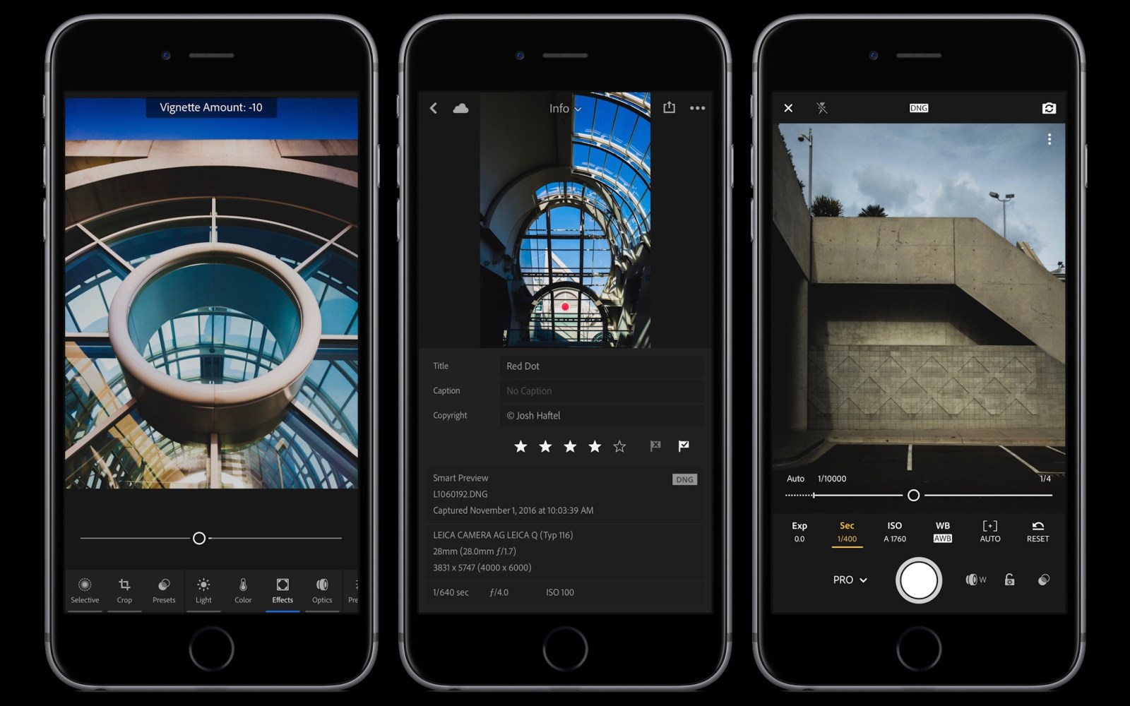 Adobe Lightroom for iOS gains improved editing interface, new info screen, pro mode, more