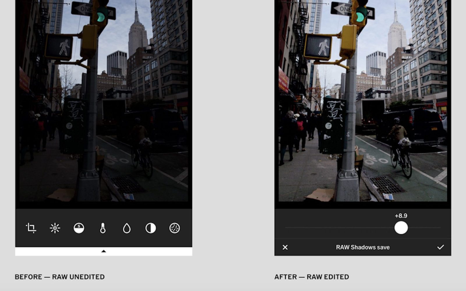 VSCO for iOS updated with full support for RAW image capturing and editing