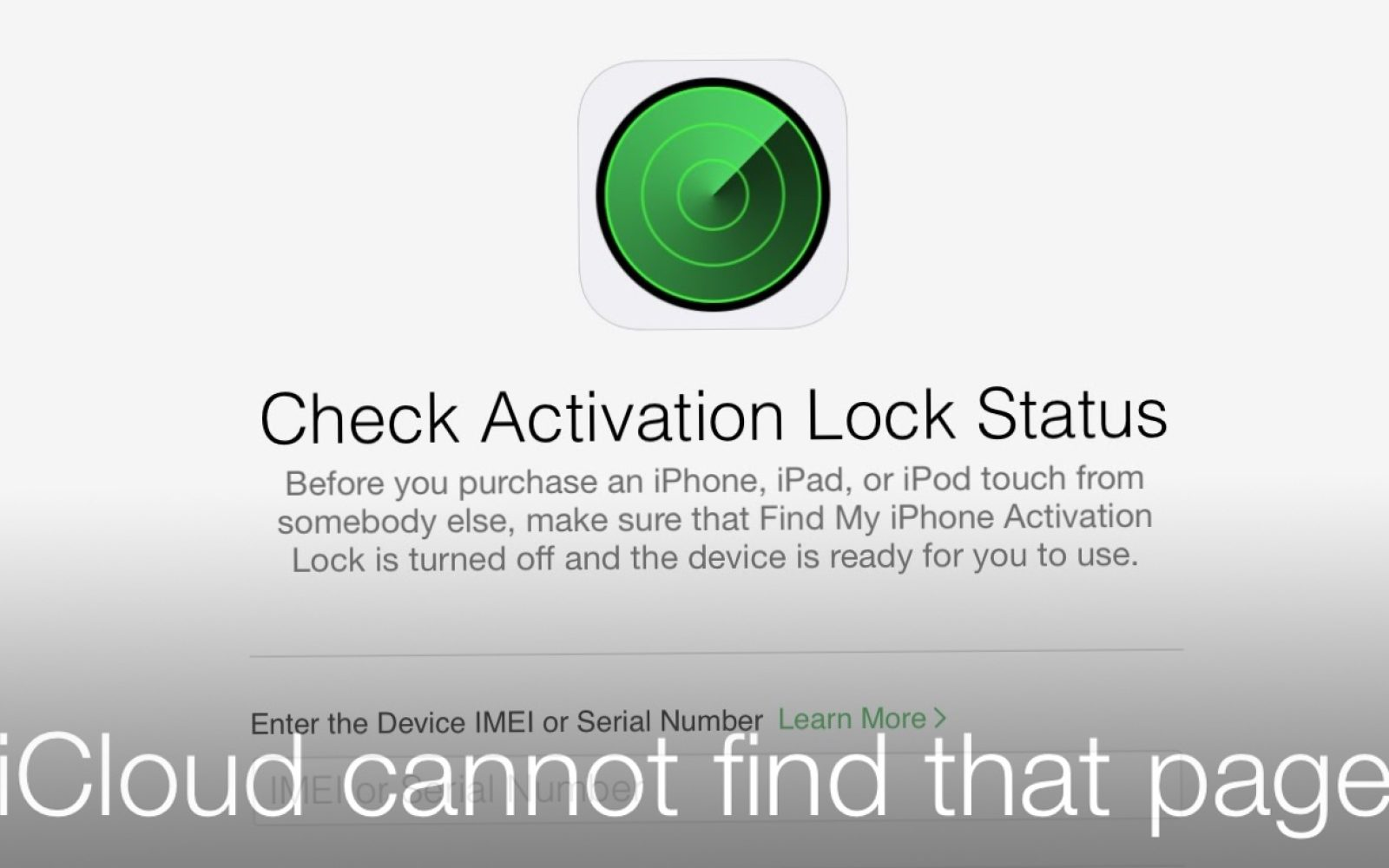 Apple inexplicably removes iCloud Activation Lock status