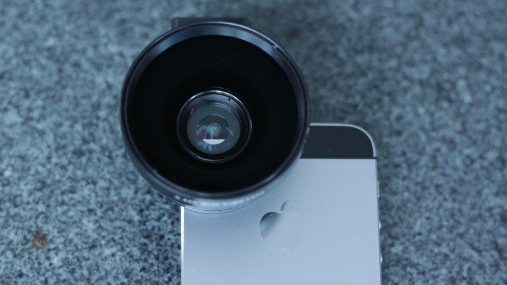 Aukey iPhone Ora Camera Lens on iPhone 5s