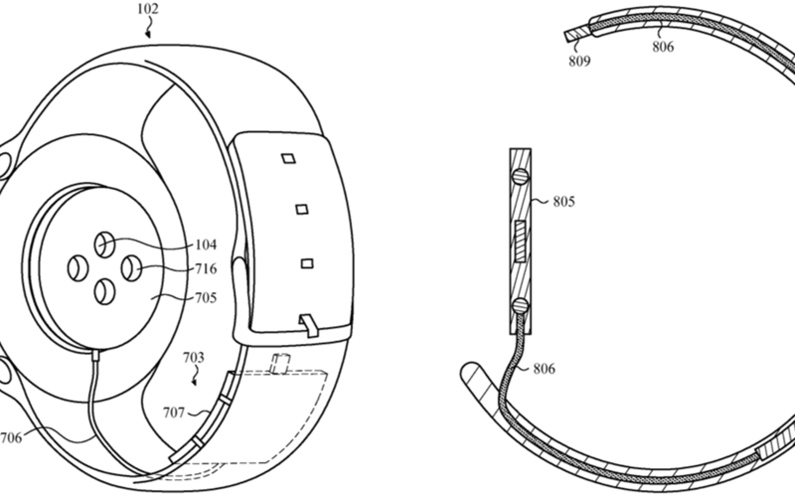 Another Apple Watch Patent Features Battery Band Oddly Shows Round Diagram Design