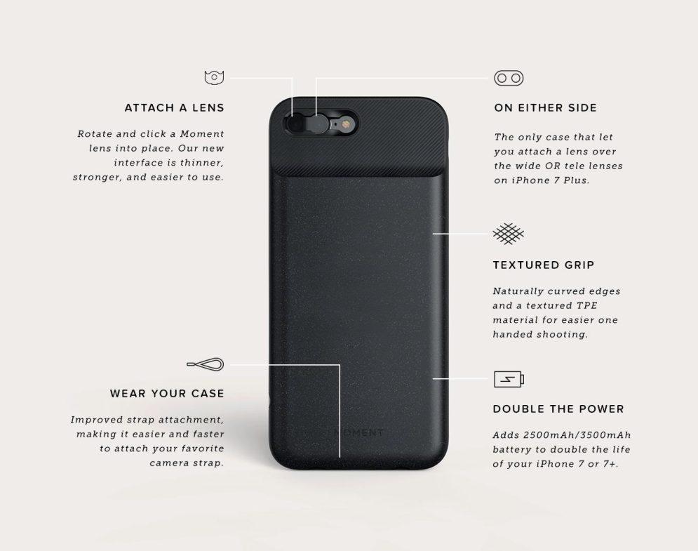 Moment Battery Photo Case Specs