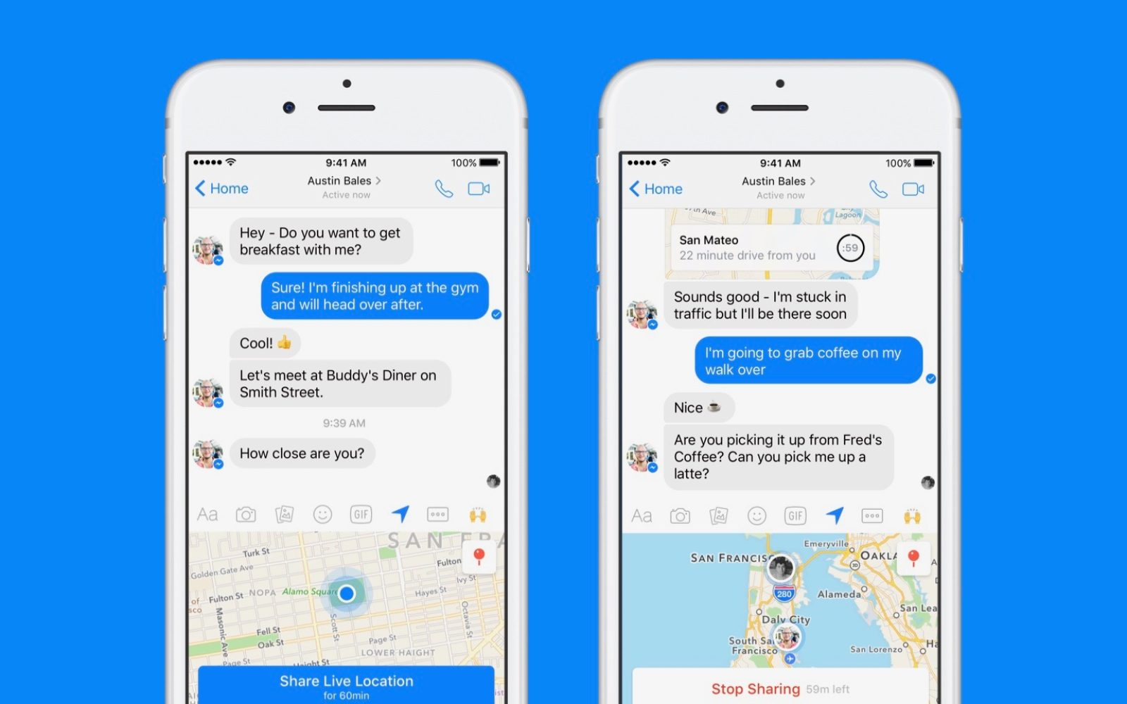 Facebook Messenger rolling out hour-long Live Location