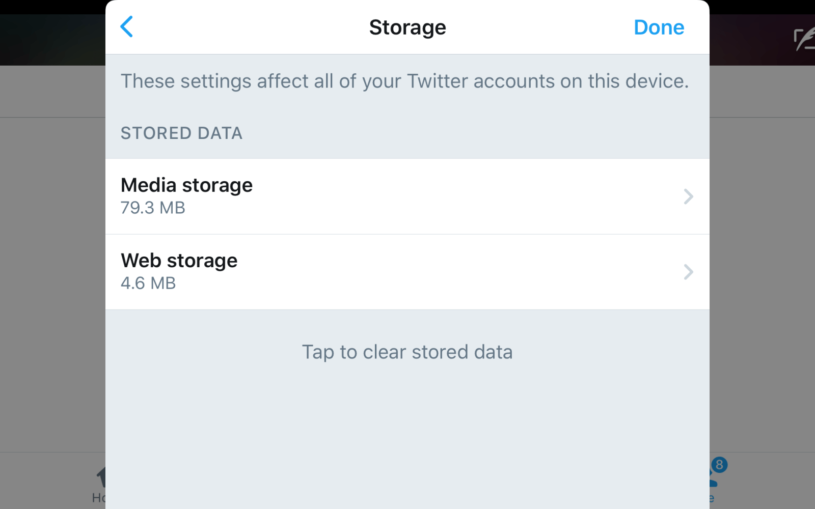 Twitter for iOS adds new storage setting for managing