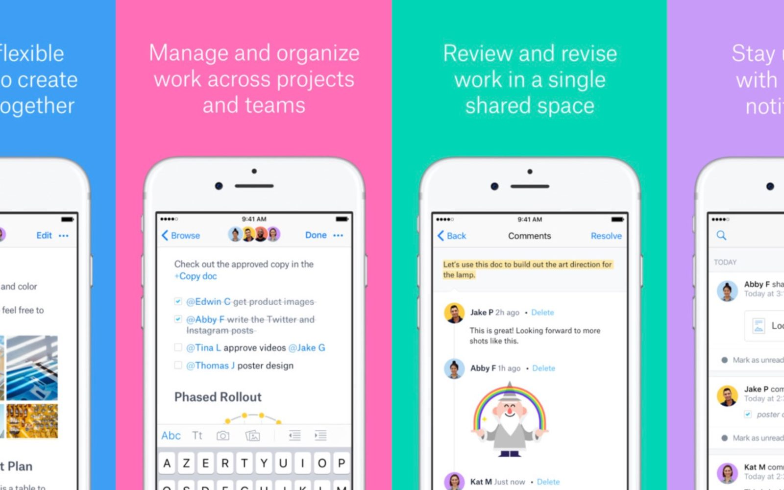 Dropbox Paper app update includes offline mode and support
