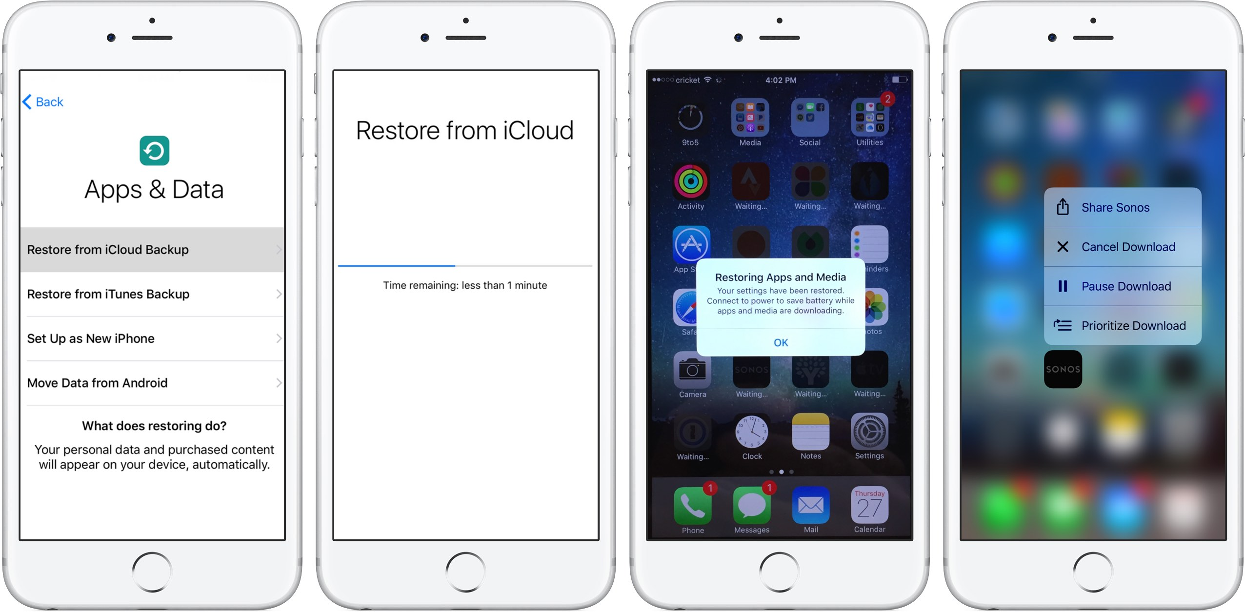 How to restore iPhone from iCloud backup - ways, recommendations and feedback