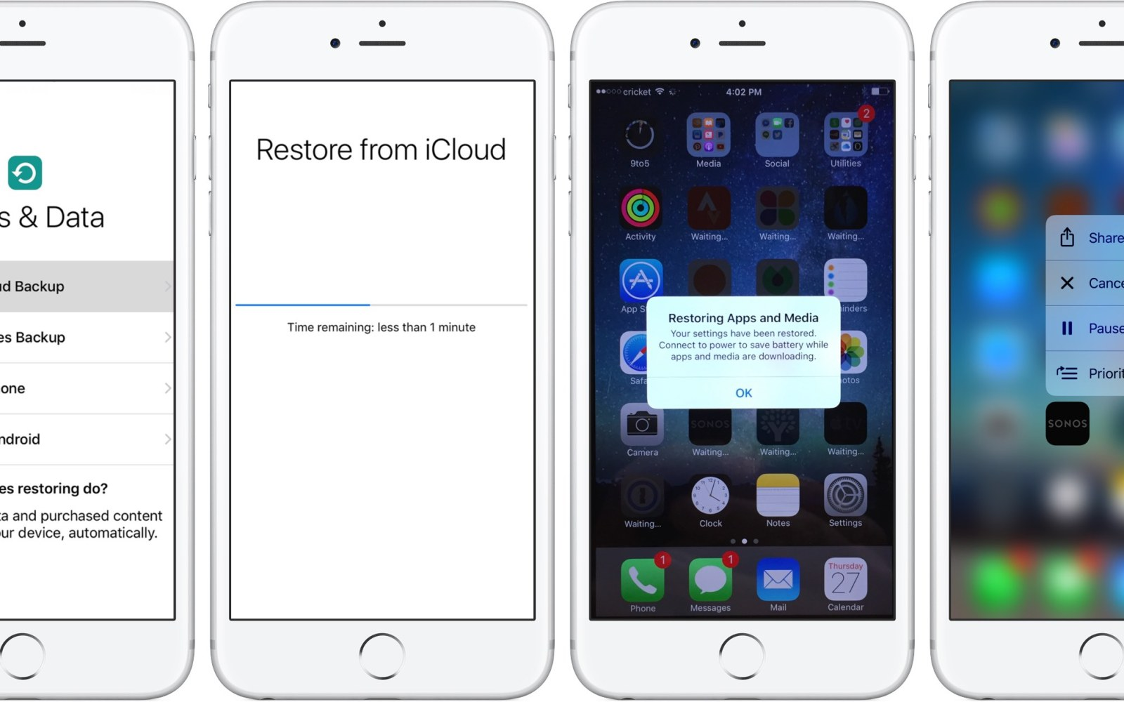 how can i reset my iphone how to restore iphone from icloud backup 9to5mac 18436