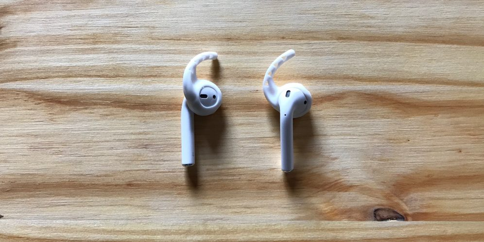White Earhoox on AirPods