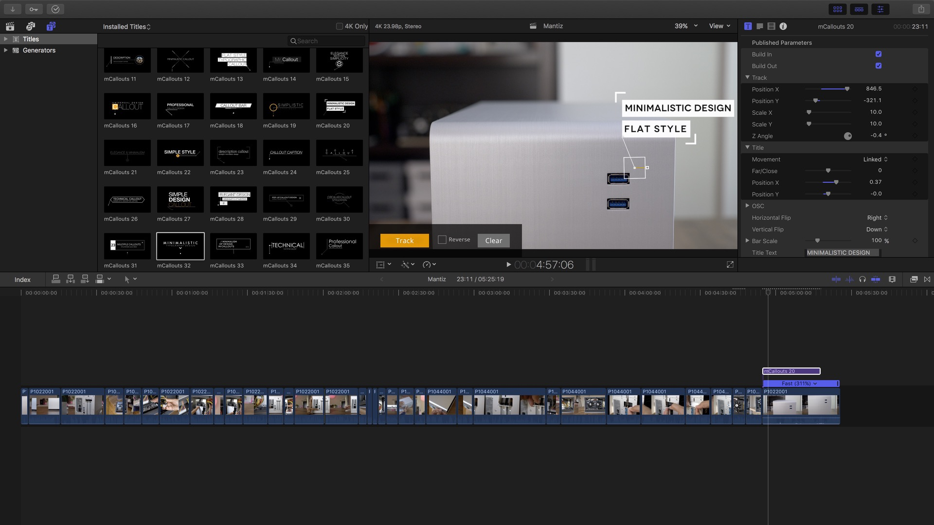 Fcp x manual array final cut pro x how to track objects using animated text callouts rh 9to5mac fandeluxe Gallery