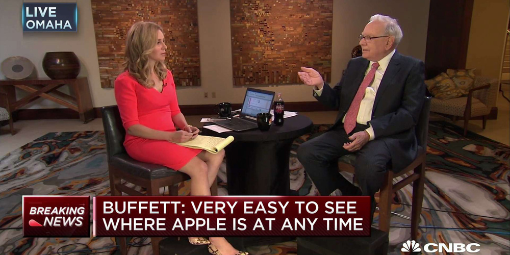 Warren Buffett uses furniture to explain why Berkshire Hathaway doubled its AAPL holdings in January