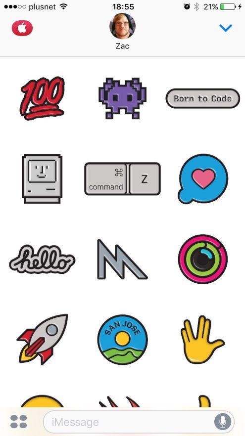 WWDC 2017 iMessage App Stickers