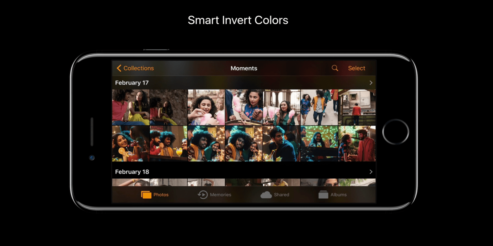how to invert colors on iphone ios 11 s new smart invert colors is the closest thing to 18886