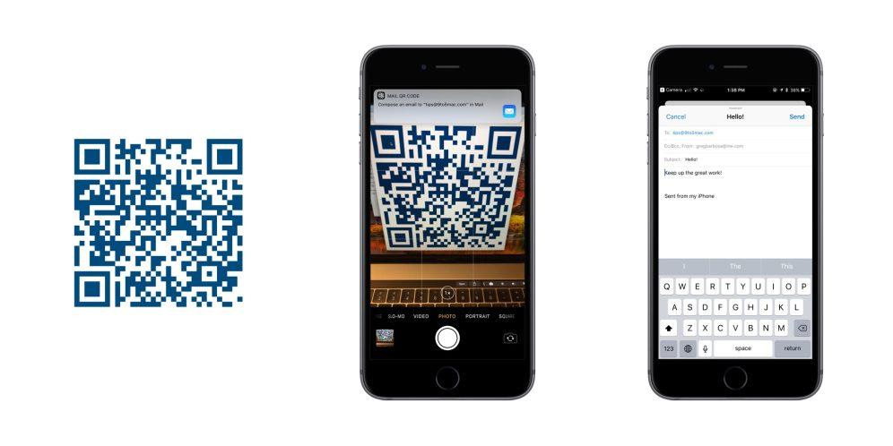 iOS 11 QR Codes Mail