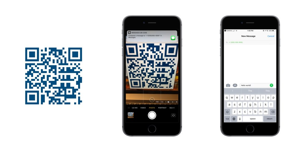 iOS 11 QR Codes Messages