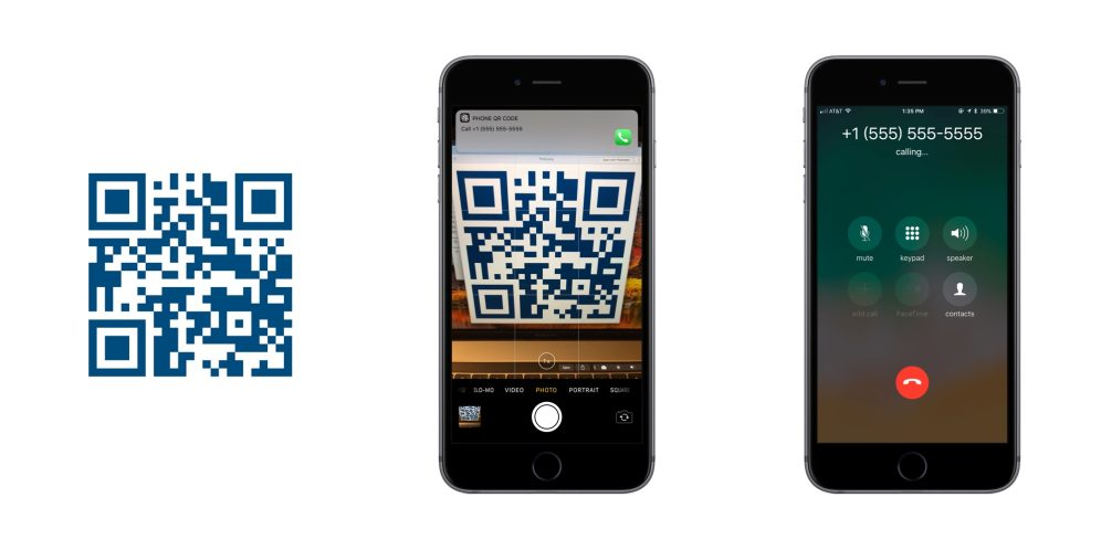 iOS 11 QR Codes Phone