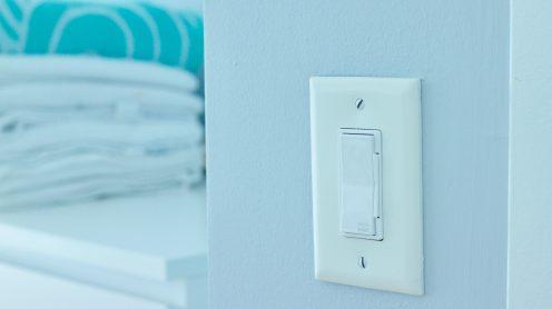 Decora Smart Dimmer in Bedroom